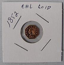 1852 California Gold Half Dollar Coin