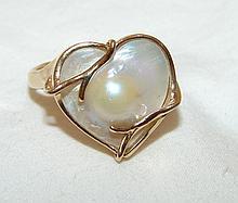Custom Pearl Ring Size 8.5, 5.4gr