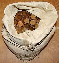 Bag of Steel Pennies from 1943 - Mixed Bag of P, D & S