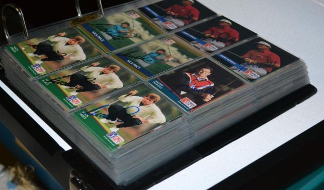 huge binder full of autographed golf cards (300+): Powell, Sifford, Chi Chi, Haas, Goalby, Geiberger