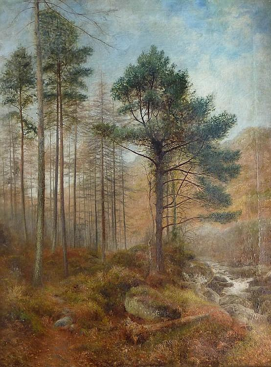 Charles France (exh.1887-1892): Wooded Landscape,