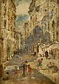 Lionel Townsend Crawshaw (1864-1949): 'A street in, Lionel Townsend Crawshaw, Click for value