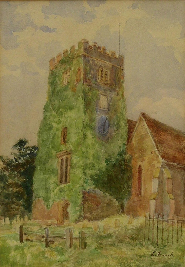 Louisa Fennell (1847-1930): 'Burnsall Church',