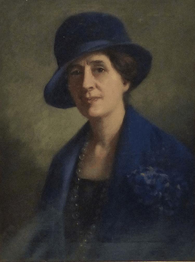 John Shirley Fox (c1860-1939): Bust portrait