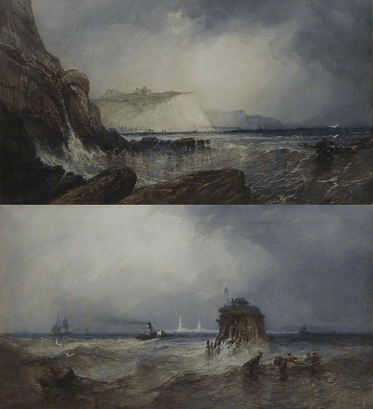 Paul Marny (1829-1914): 'Dover' and 'Calais', pair