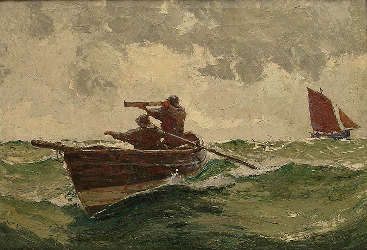 Ernest Dade (1864-1934): 'Pilots off the Tyne',