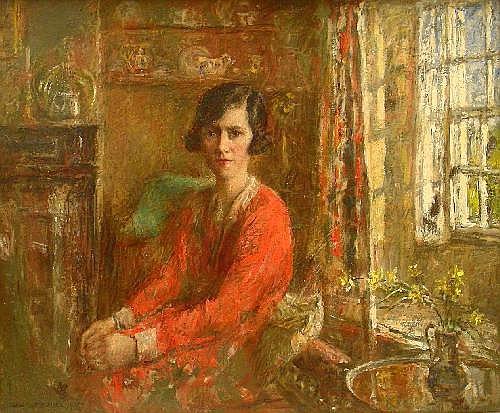 Rowland Henry Hill (1873-1952): Interior scene -