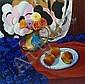Ken Wathey (1927-2003): Still life, oil on canvas
