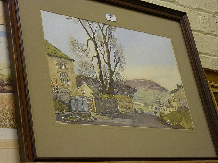 Appletreewick In Wharfedale Watercolour Signed