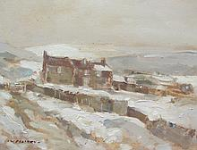 William B Dealtry (British Contemporary 1915-2007): North Yorkshire Moors Winter Landscape, oil on board signed 34cm x 45cm DDS - Artist's resale rights may apply to this lot