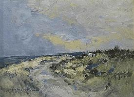 William Dealtry (1915-2007): Moorland Tracks, two
