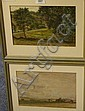 Rural Landscapes, pair watercolours one signed