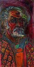 """•SVEN BERLIN (1911-1999) """"Self-portrait circa 1970-72"""", oil on board, 24"""" x"""