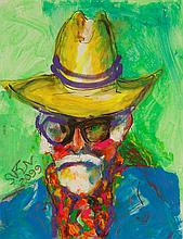 """•SVEN BERLIN (1911-1999) """"Self-portrait 2099"""", signed and dated 2099 lower"""