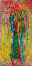 """•SVEN BERLIN (1911-1999) """"Rain Girl"""", signed, titled and dated '99 lower le"""