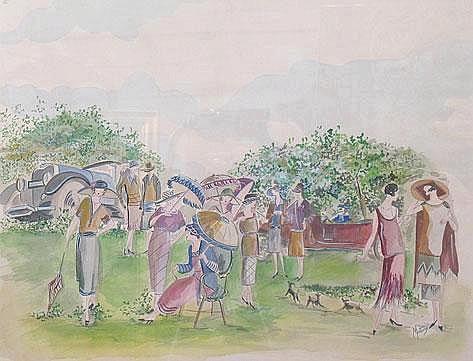 ENGLISH SCHOOL, circa 1920 A picnic of