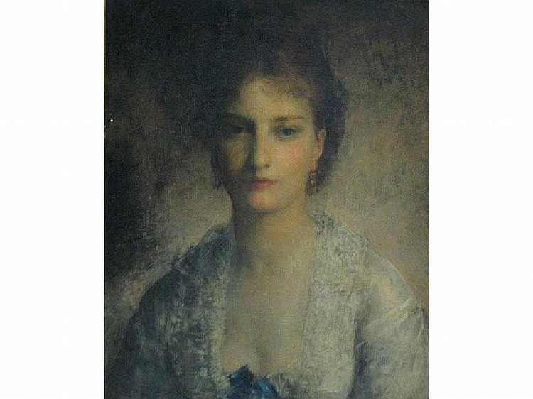 LOUIS GUSTAV RICARD A portrait of Miss Alice