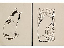 • SVEN BERLIN (1911-2000) A study of a seated cat