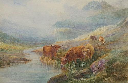 Harry Stinton (1882-1968) British Highland Cattle
