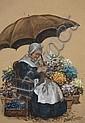 John Foster (1877-1965) British The Flower Seller, John Ernest Foster, Click for value