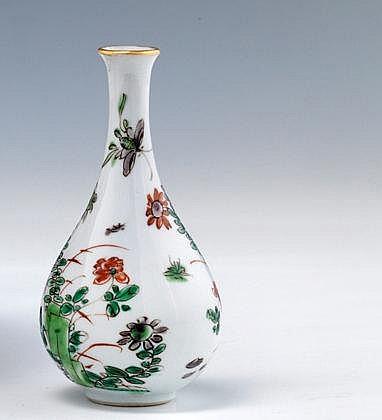 Chine vase balustre miniature en porcelaine d cor e en mau - Branche deco vase ...