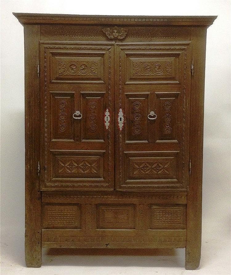 El gante armoire bretonne du l on en bois naturel moulur s - Armoire bois naturel ...