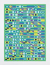 """SANZ FRAILE, EDUARDO (1928). """"Sin título"""". Serigrafia sobre papel. Firmada y fechada (1978) en el ángulo inferior derecho. Numerada (59/150) en el ángulo inferior izquierdo. 64,5 x 49,5 cm"""