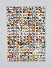 """SANZ FRAILE, EDUARDO (1928). """"Sin título"""". Serigrafía sobre papel. Firmado y fechado (1978) en el ángulo inferior derecho. Numerado (59/150) en el ángulo inferior izquierdo. 64.5 x 49,5 cm"""