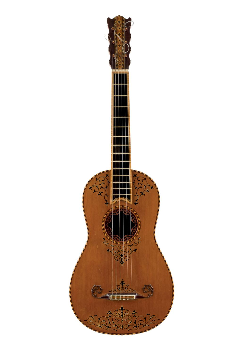 A baroque-style guitar by M.L.N., 1972