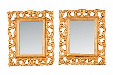 A pair of gilt wood wall mirror