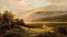 19th C. english School. Landscape with sheeps