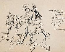 Ricardo Marín. On the top of the horse