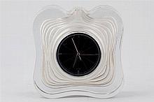 A Daum glass mantel clock