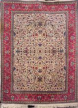An iranian style wool rug