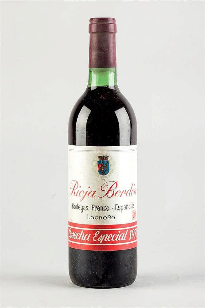 12 bottles Rioja Bordón Cosecha Especial 1970