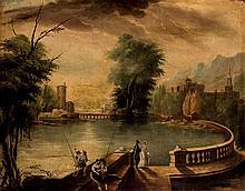 European School 19th C. Landscape with Lake