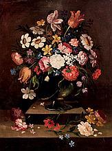 19th C. Spanish School. Flowers