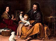 Spanish School 19th C. Holy Family