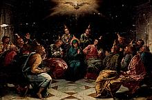 Escuela Española Antigua. Pentecostés