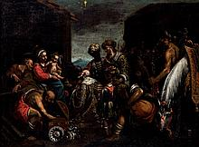 18th-19th C. European Schoo. Maggi adoration