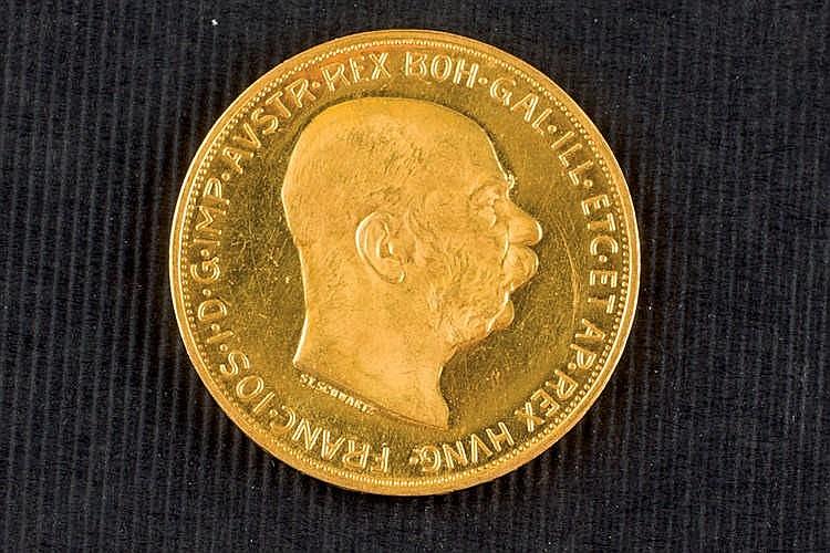 100 crowns austrian gold coin 1915
