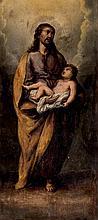 Spanish School, Late 18th C. St. Joseph and Child