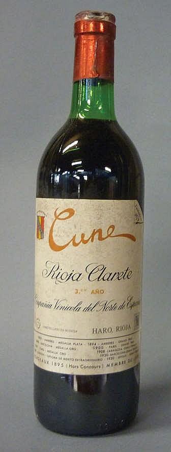 12 Bottles Rioja Cune Clarete, 3º año