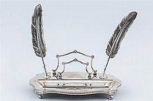 A Spanish silver inkstand