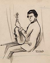 Rafael de Penagos. Violin player