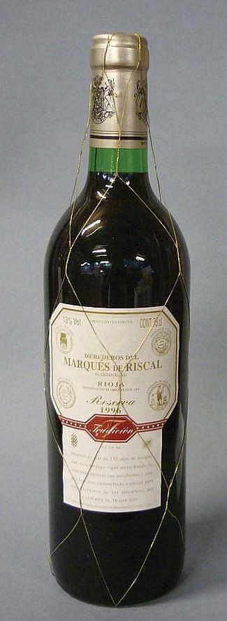 12 bottles Marqués de Riscal Reserva 1996