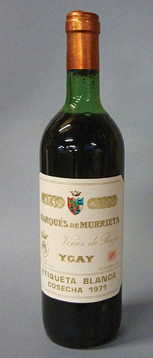 12 bottles Rioja Marqués de Murrieta 1971