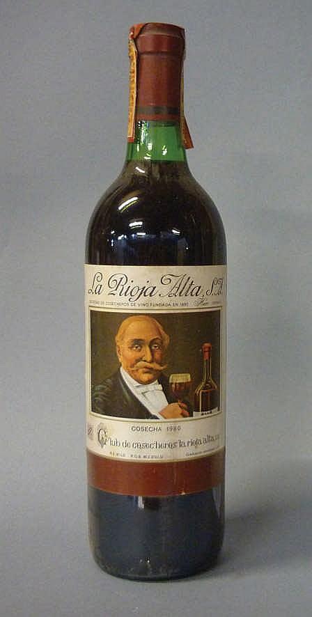 12 bottles Rioja Alta Club de Cosecheros 1980