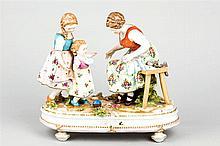 A German porcelain group