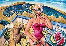 Borja Guijarro. Lady in the terrace